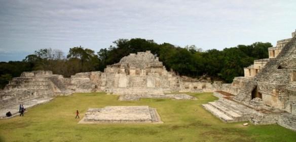 Edzná's main plaza, Campeche, Mexico