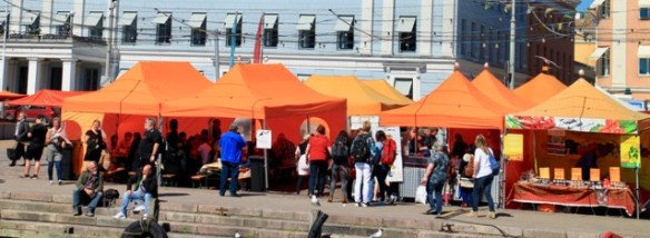 Outdoor food stalls - a Helsinki city break