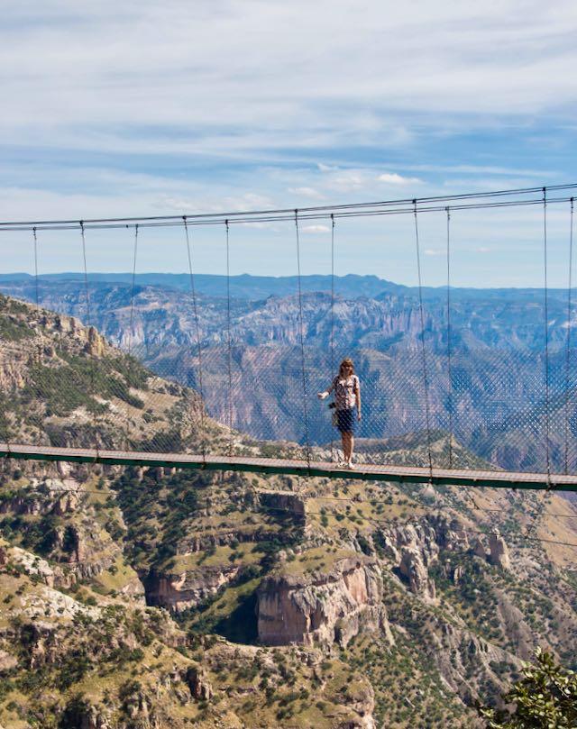 bridge over the Copper Canyon, Divisadero, Mexico