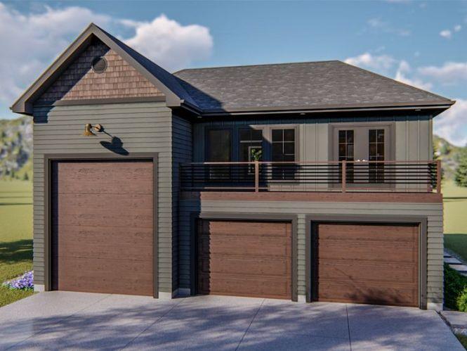 Garage Apartment Plans Rv Plan 050g