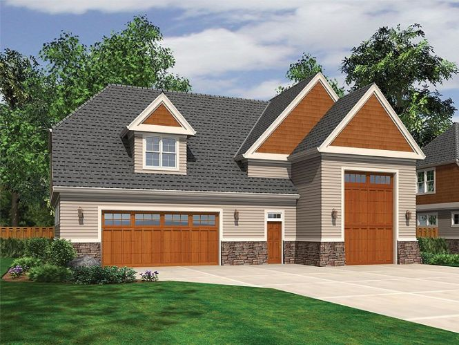 Rv Garage Plan With Loft 034g 0015