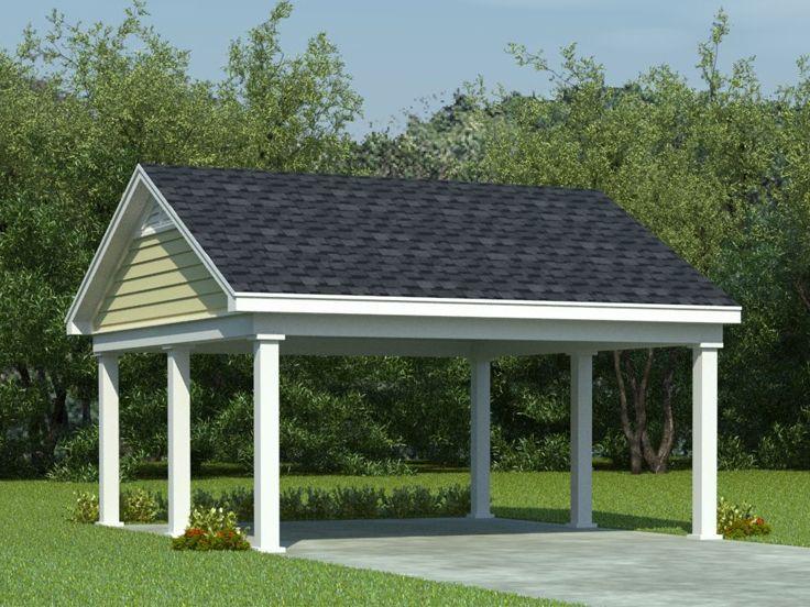 Carport Plans Double Carport Plan With Support Posts 006g 0008 At Thegarageplanshop Com
