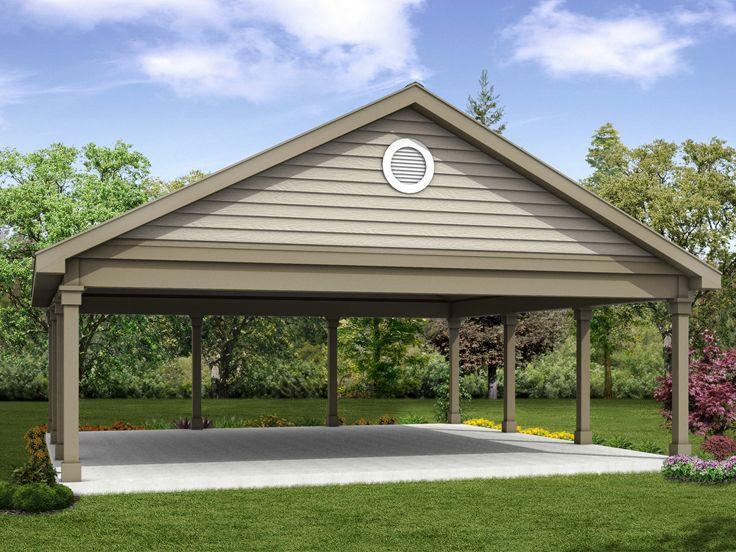 Carport Plans 26 X26 Double Carport Plan 051g 0102 At Www Thegarageplanshop Com