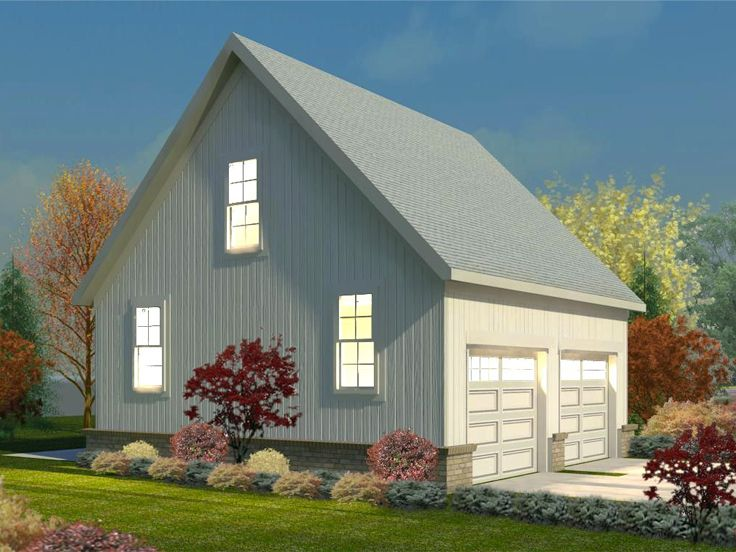 Two Car Garage Plans Double Garage Plan With Gable Roof