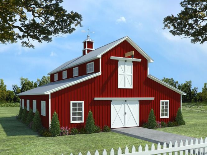 Barn Plans Horse Plan With Living Quarters 001b