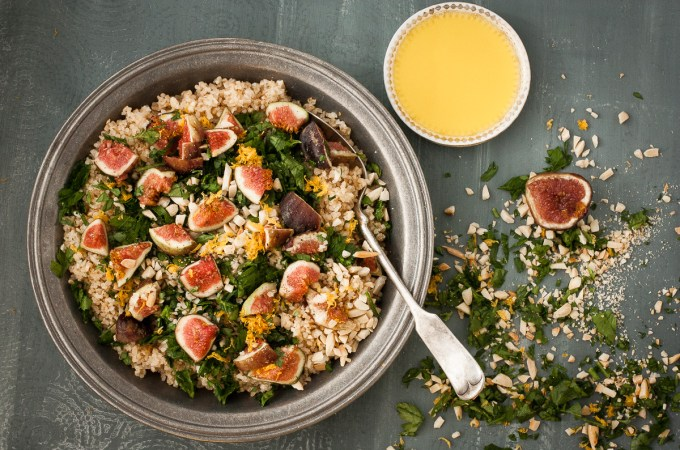 Tabouli with Figs, Almonds, Orange, Parsley, and Ginger