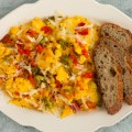 Shishito Pepper Scrambled Eggs and Cheese