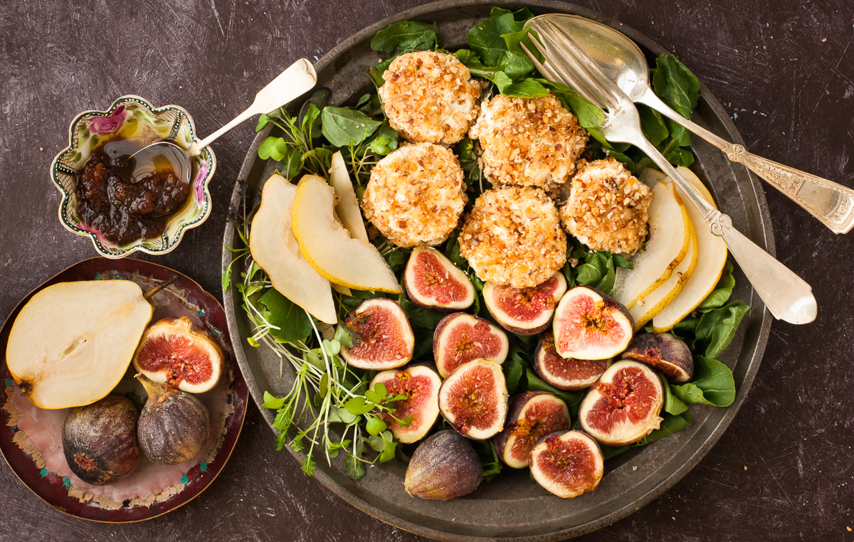 Fig, Arugula, and Goat Cheese Salad