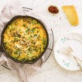 Spring Garlic, Pea, and Potato Spanish Tortilla