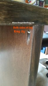 I did Kreg Jig on both sides. If you use L-shaped brackets I would do both sides for support