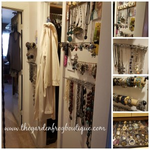 How To Organize your Jewelry with tie/belt racks, dowels, and egg cartons