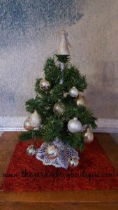 Create a Tabletop Tree, Holiday Tabletop Tree, Christmas Tabletop Tree