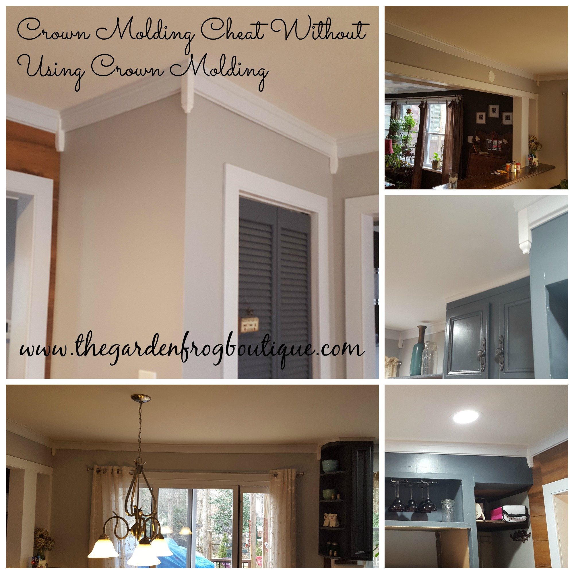 Crown Molding Cheat Without Using Crown Molding - The Garden