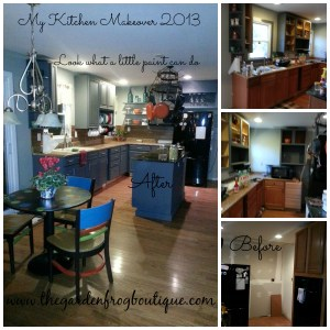 Kitchen Makeover 2013 before and after with homemade chalk paint