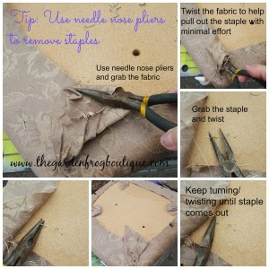 How to Use Fabric to Recover a Dining Room Chair, Removing staples from fabric,