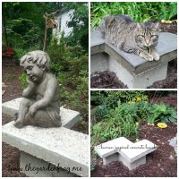 Create a Chevron Inspired Concrete Garden Bench