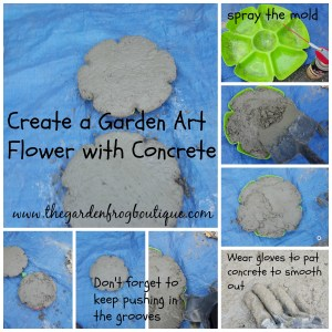 Create a Garden Art Flower with Concrete or Hypertufa and decorative idea for stepping stone