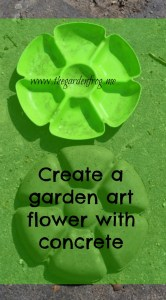 Create a garden art flower with concrete or hypertufa