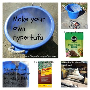 How to Make your own hypertufa for garden projects