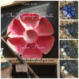 Create a Garden ARt Flower with Concrete or Hypertufa, decorative idea for stepping stones