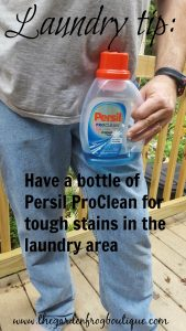 Laundry tip: have a bottle of Persil Proclean on hand