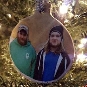 Christmas Photo Ornament from clay craft ornaments