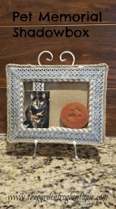 Create a pet memorial shadowbox from a stretched burlap canvas