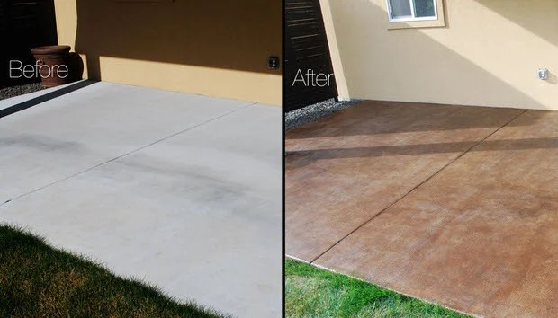 how to stain a concrete patio easy diy
