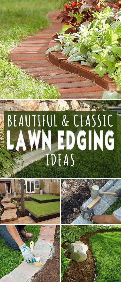 beautiful classic lawn edging ideas