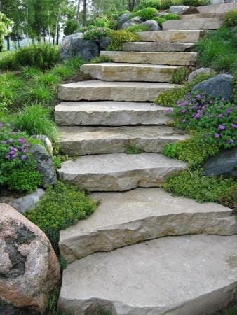 Step By Step Diy Garden Steps Outdoor Stairs • The Garden Glove   Outdoor Garden Under Stairs   Exterior   Walkway   Crosstie   Gardening   Simple