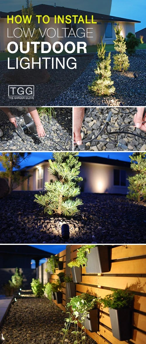 to install low voltage outdoor lighting