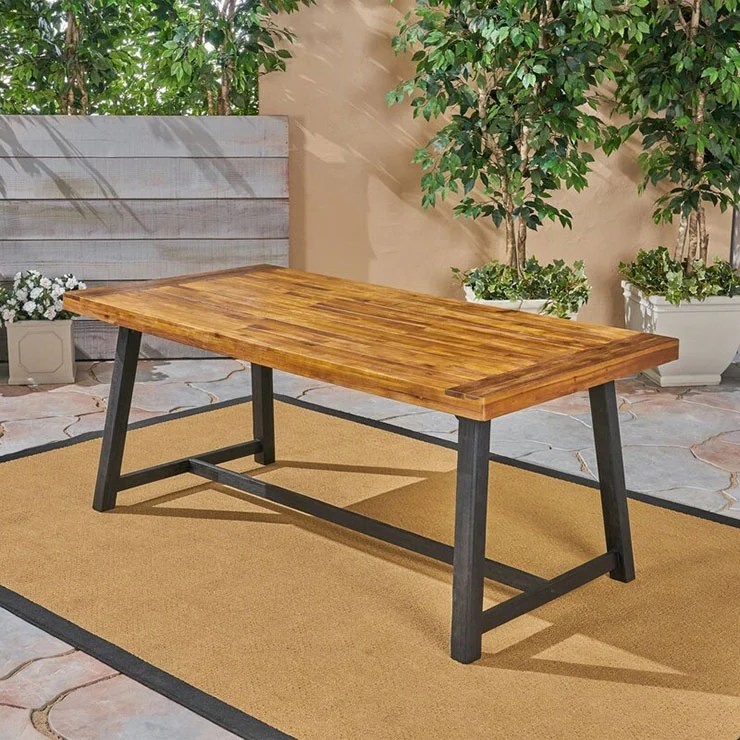 diy outdoor dining table projects the