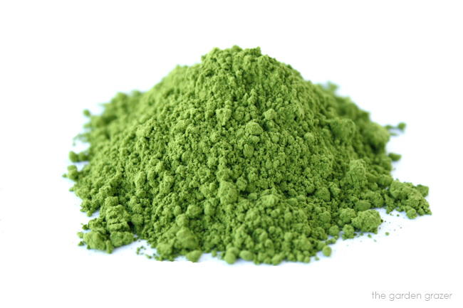 Ground organic matcha green tea powder