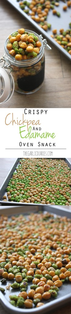 Crispy Chickpea and Edamame Oven Snack
