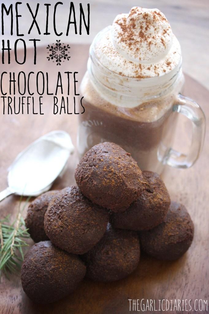 Mexican Hot Chocolate Truffle Balls -- TheGarlicDiaries.com