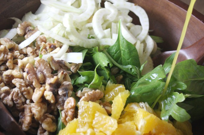 Orange, Fennel, and Walnut Salad with Citrus Vinaigrette