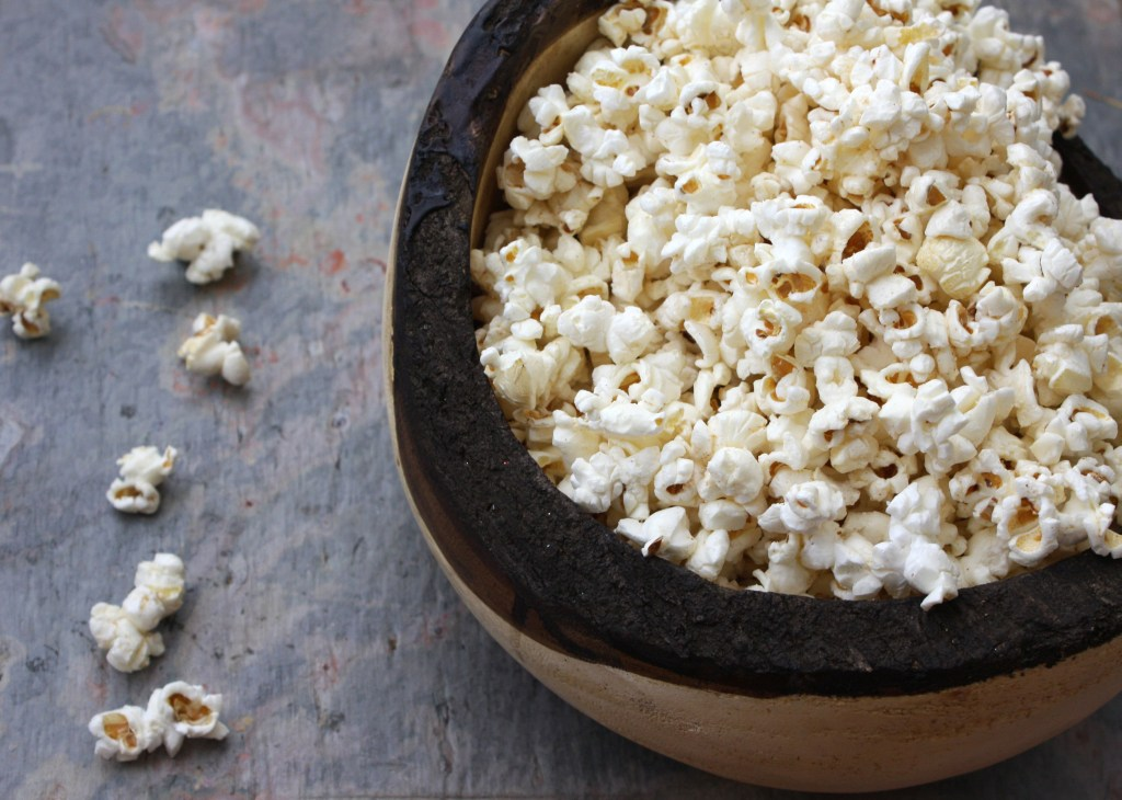 Brown Butter Popcorn -- TheGarlicDiaries.com