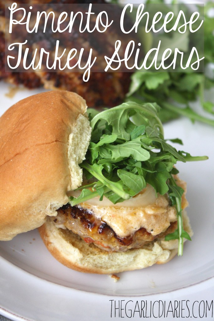 Pimento Cheese Turkey Sliders -- TheGarlicDiaries.com