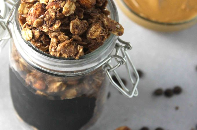 Chewy Chocolate Peanut Butter Granola Clusters