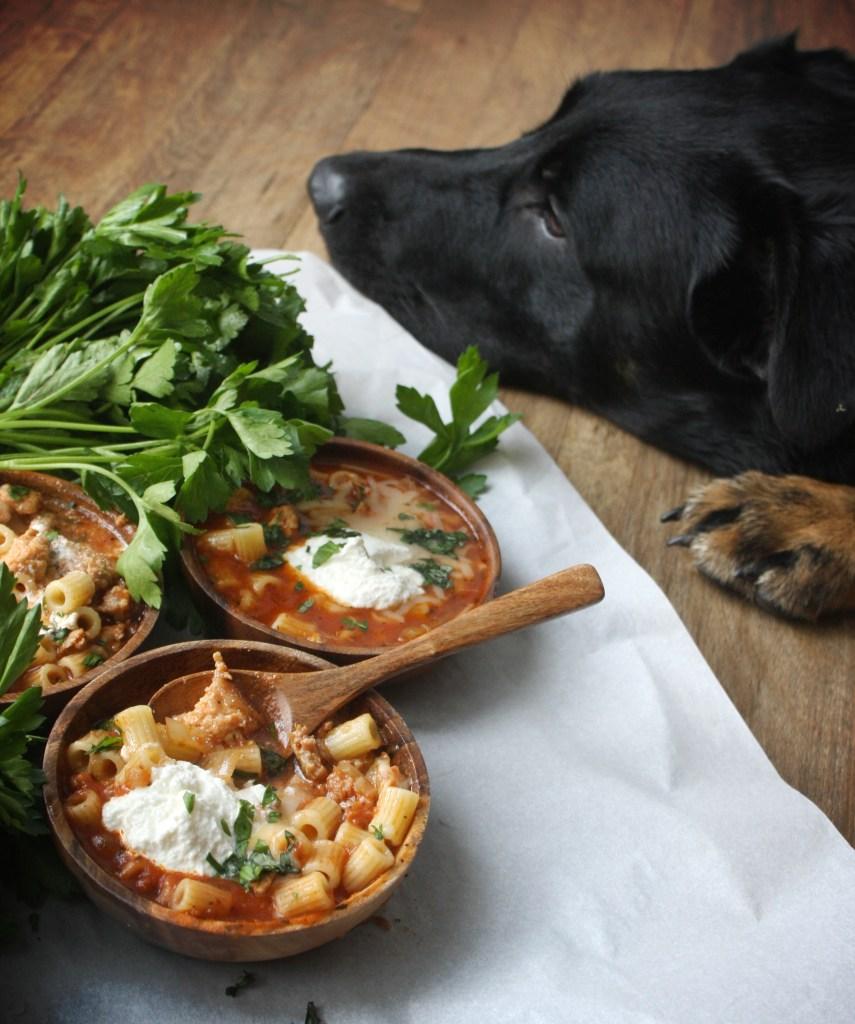 Crock-Pot Lasagna Soup -- TheGarlicDiaries.com
