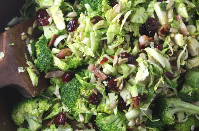 Broccoli and Brussels Sprout Salad with Citrus Vinaigrette