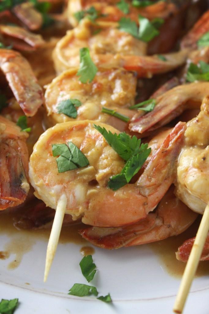 Peanut Lime Shrimp -- TheGarlicDiaries.com