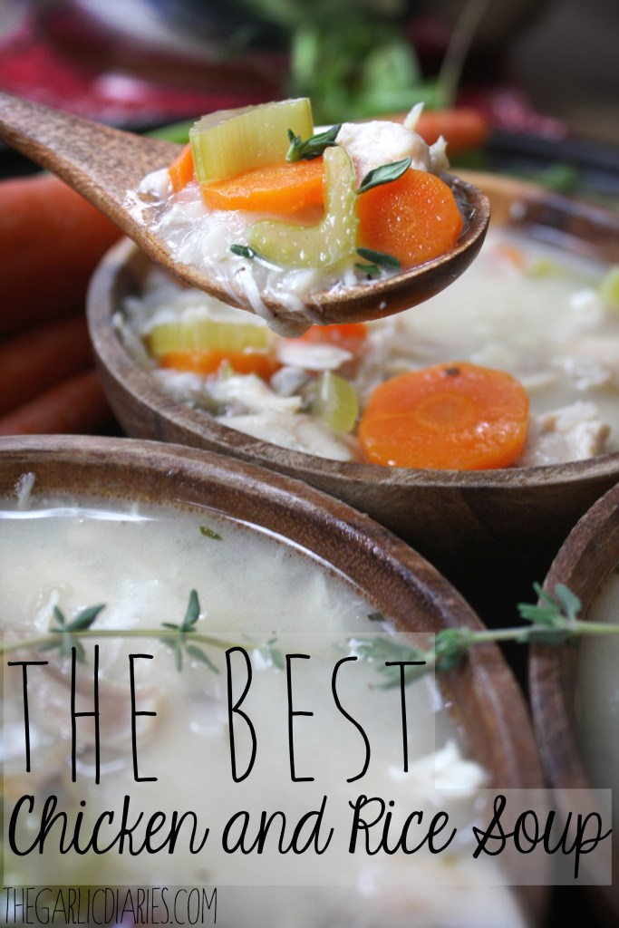 The Best Chicken and Rice Soup - TheGarlicDiaries.com