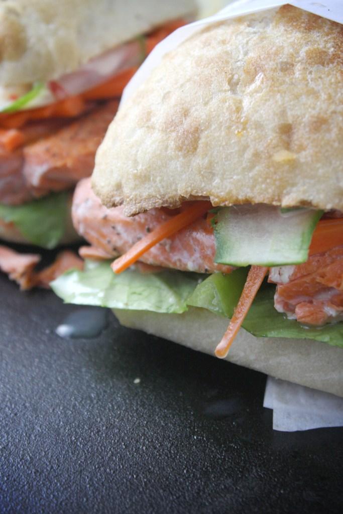 Salmon Banh Mi -- TheGarlicDiaries.com