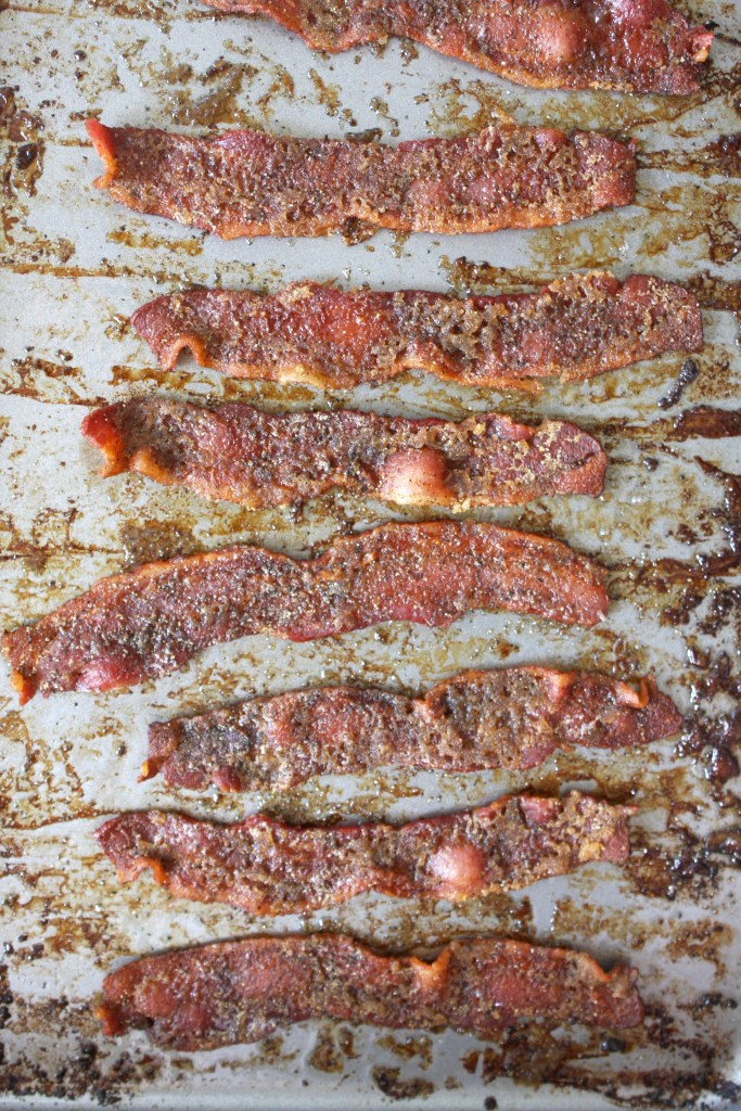Brown Sugar Peppered Bacon -- TheGarlicDiaries.com