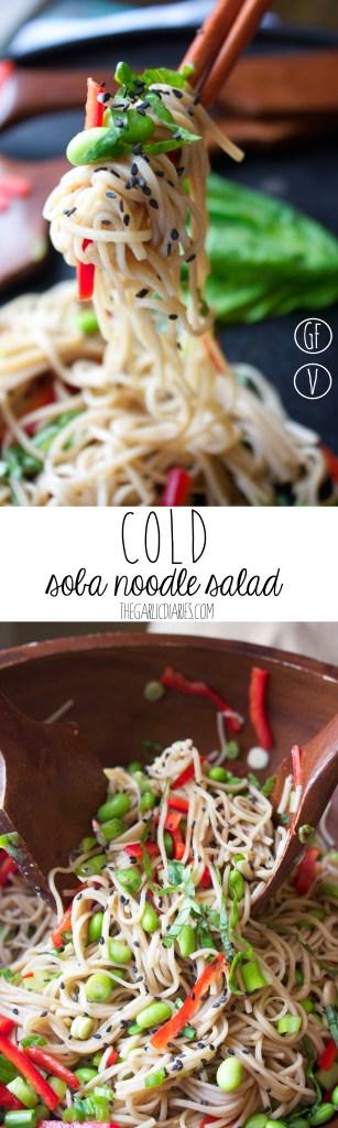 Cold Soba Noodle Salad -- TheGarlicDiaries.com