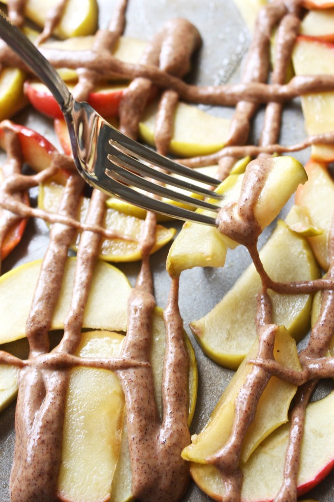 IMG_Roasted Apples with Cinnamon Peanut Butter Sauce -- TheGarlicDiaries.com
