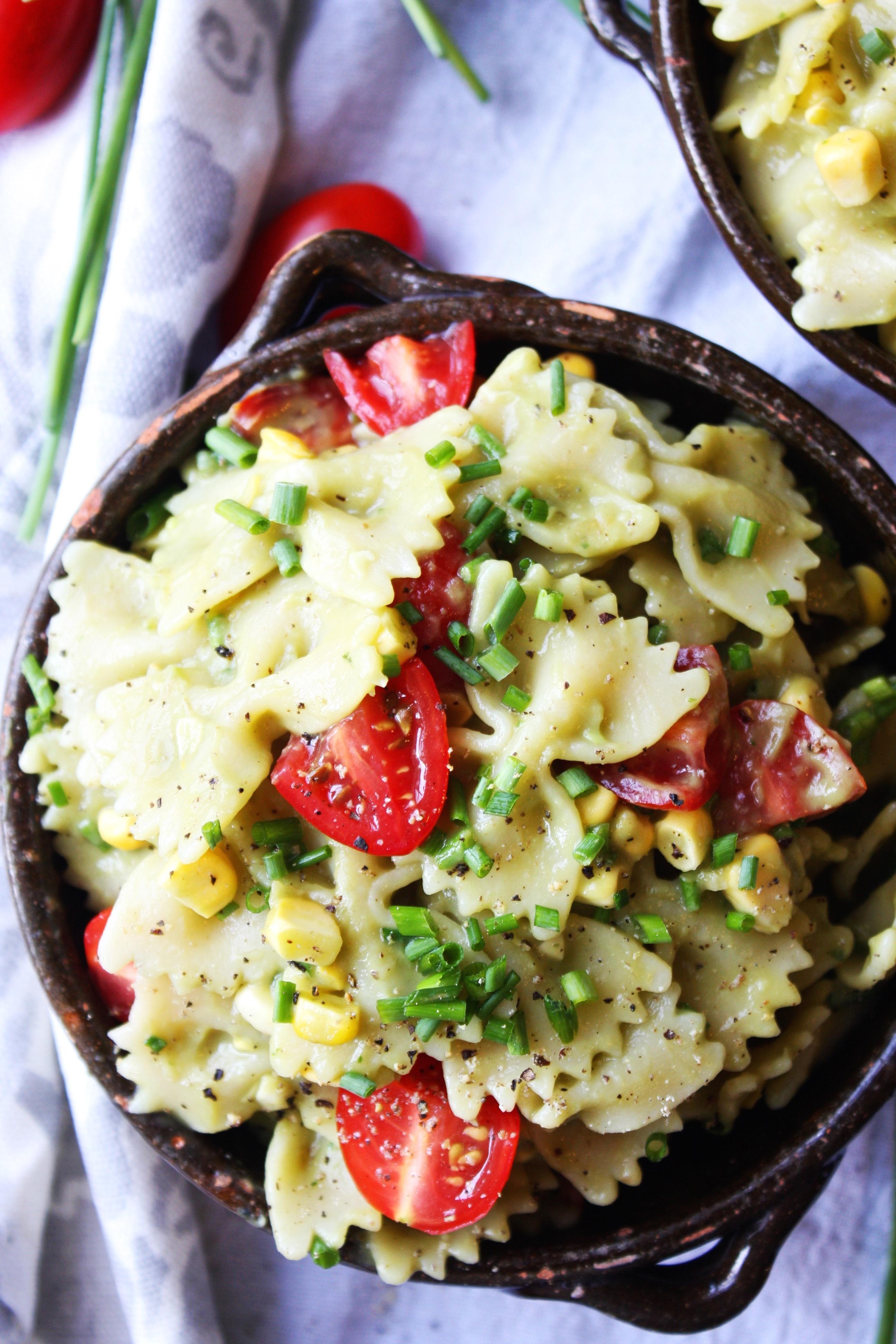Pasta Salad With Creamy Avocado Sauce