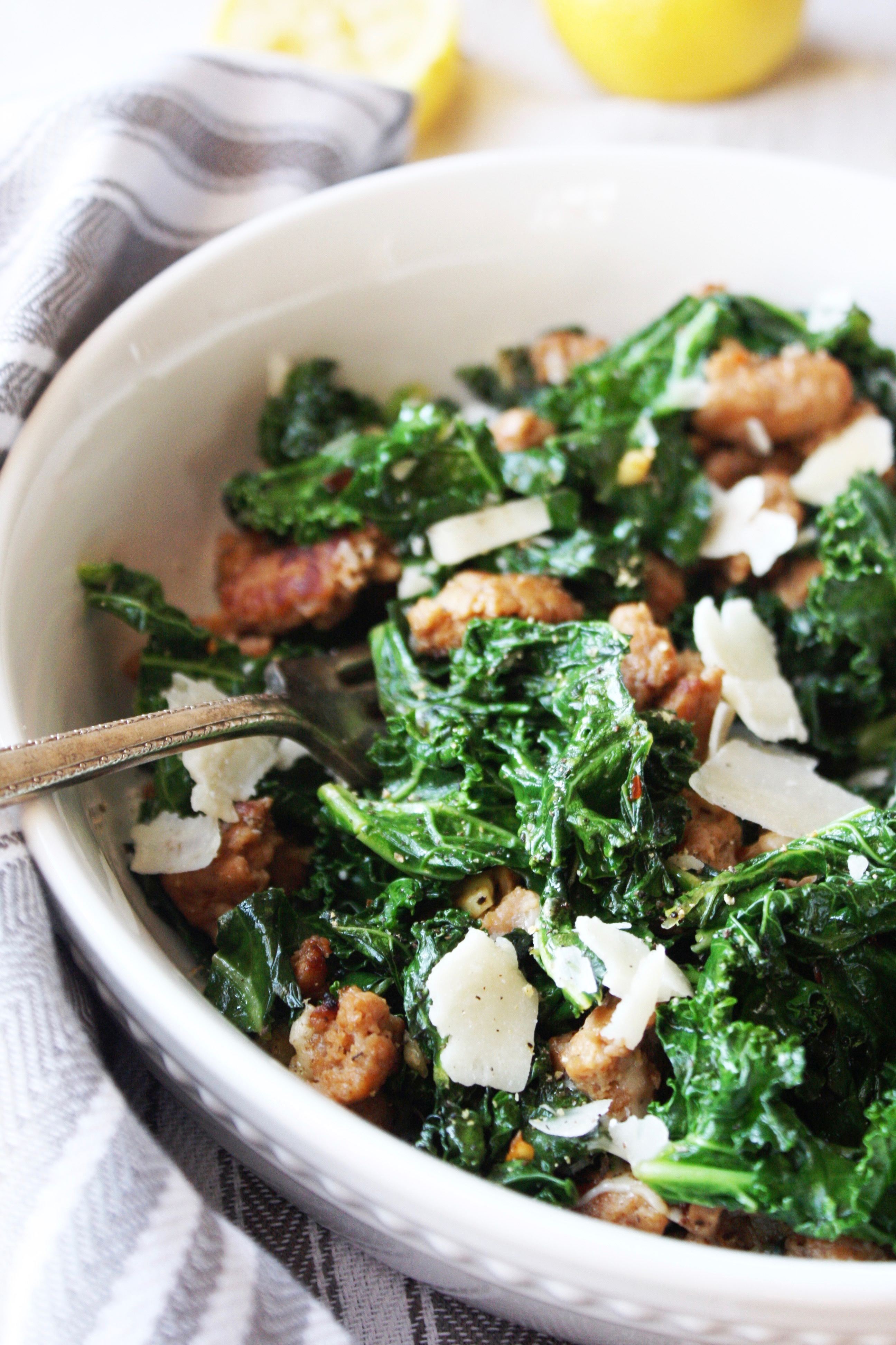 Kale and turkey sausage saute with parmesan 21 day fix kale and turkey sausage saute with parmesan 21 day fix this speedy dinner forumfinder Gallery