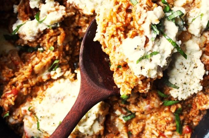 Brown Rice Lasagna Skillet